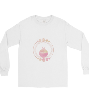 etheric life pink full moon collection long sleeve t-shirt white