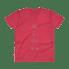 etheric life diagram I v-neck t-shirt red