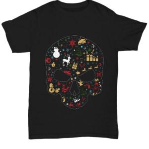 Christmas skull Santa Shirt