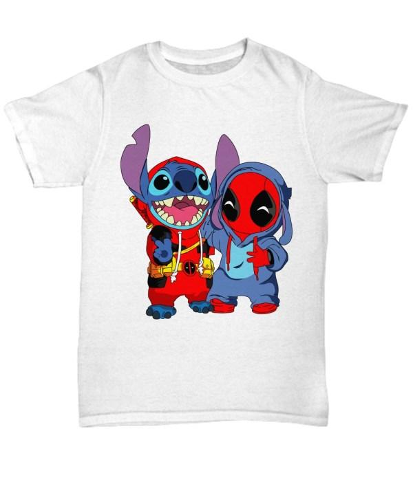 Deadpooland baby stitch shirt