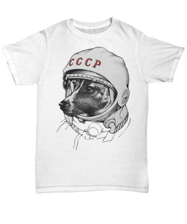Laika space traveler shirt
