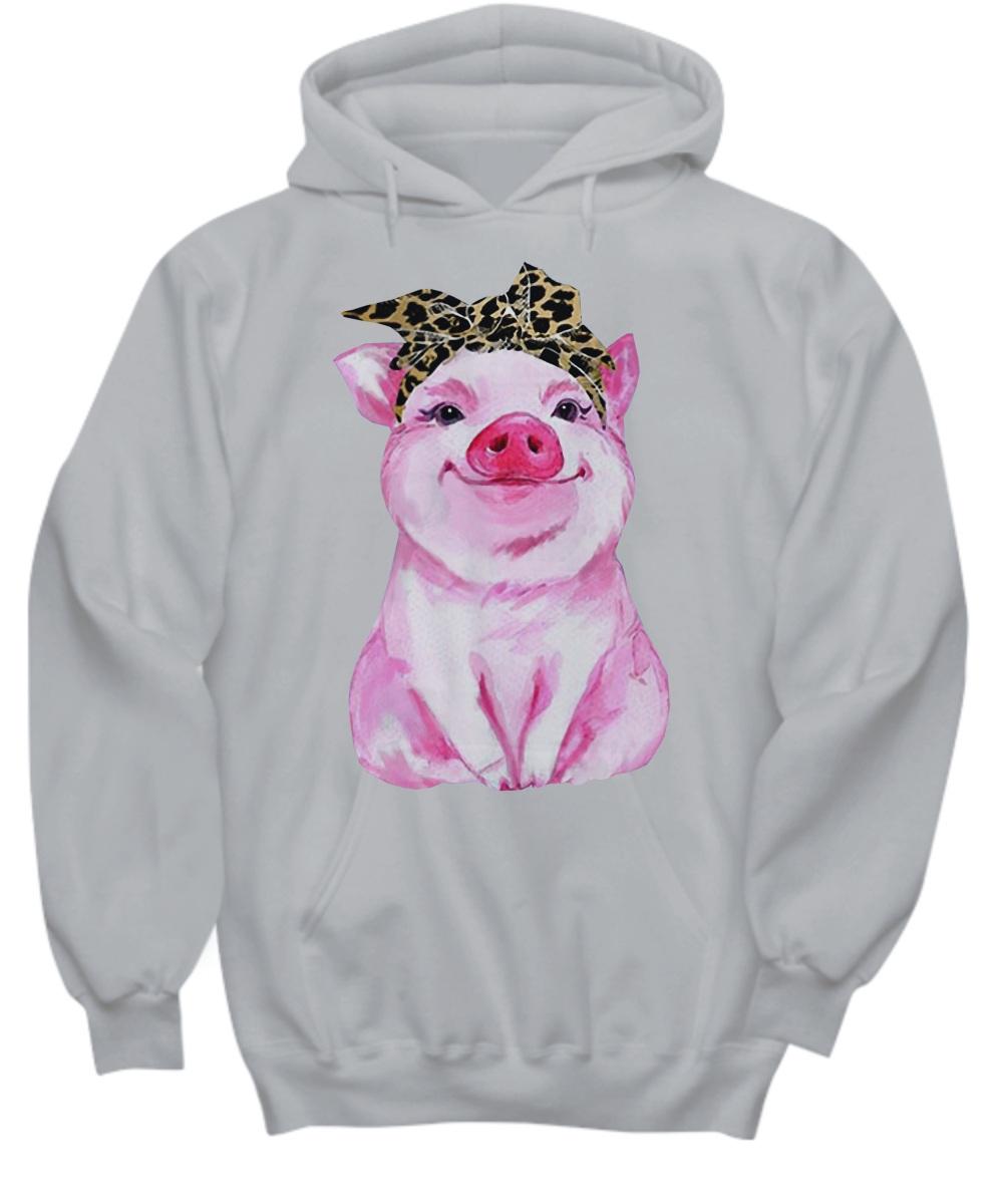 Pig bow ladies Hoodie