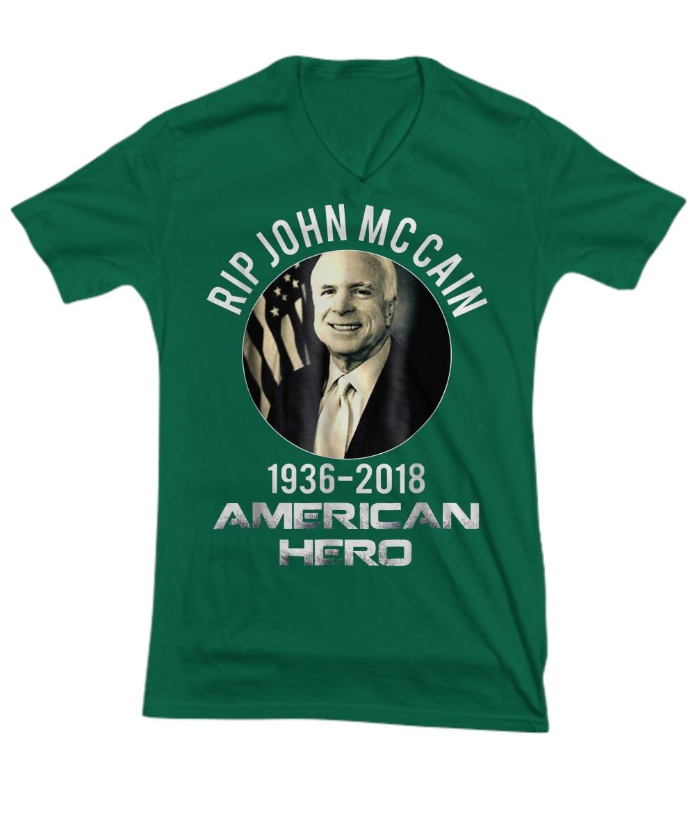 Rip John Mccain 1936 - 2018 American Hero V-neck