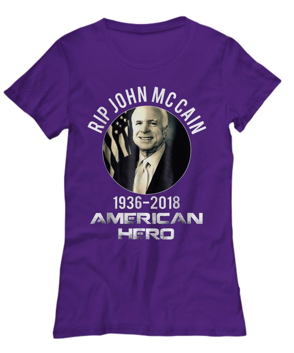 Rip John Mccain 1936 - 2018 American Hero Women's Tee