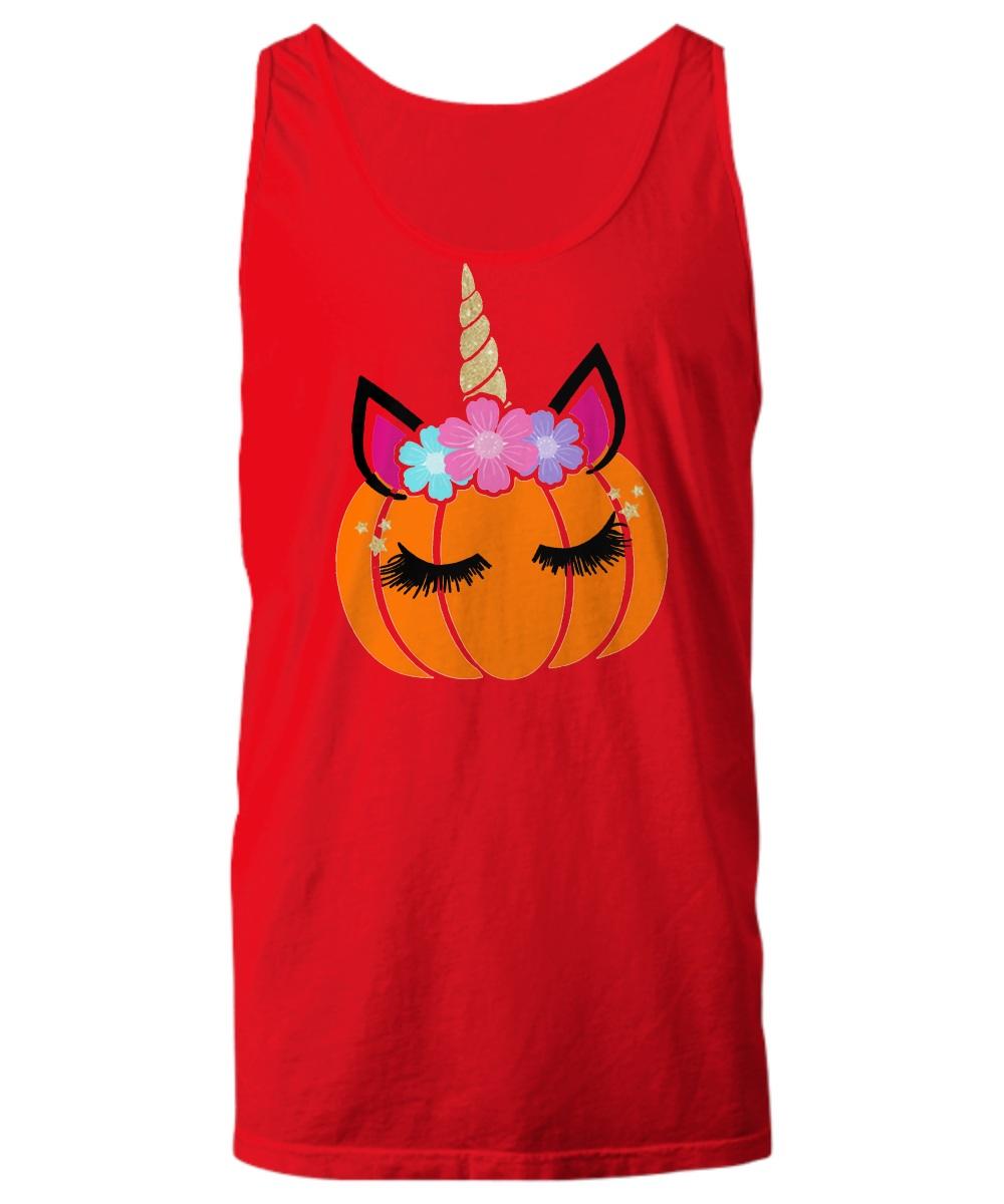Unicorn pumpkin Halloween Tank top