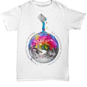 Autism Awareness Earth I wouldn't change you for the world Shirt