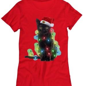 Cat light Christmas Shirt