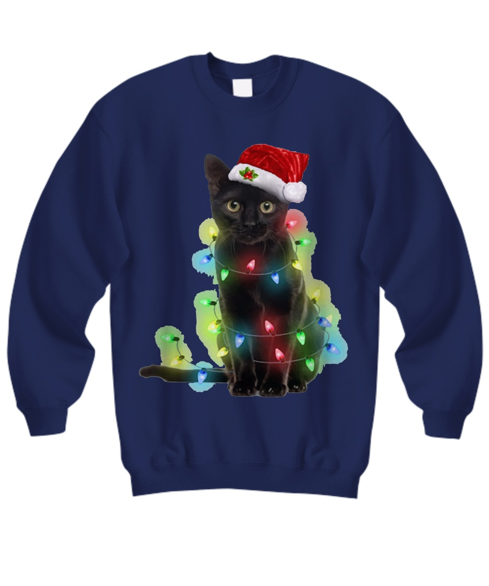 Cat light Christmas Sweatshirt