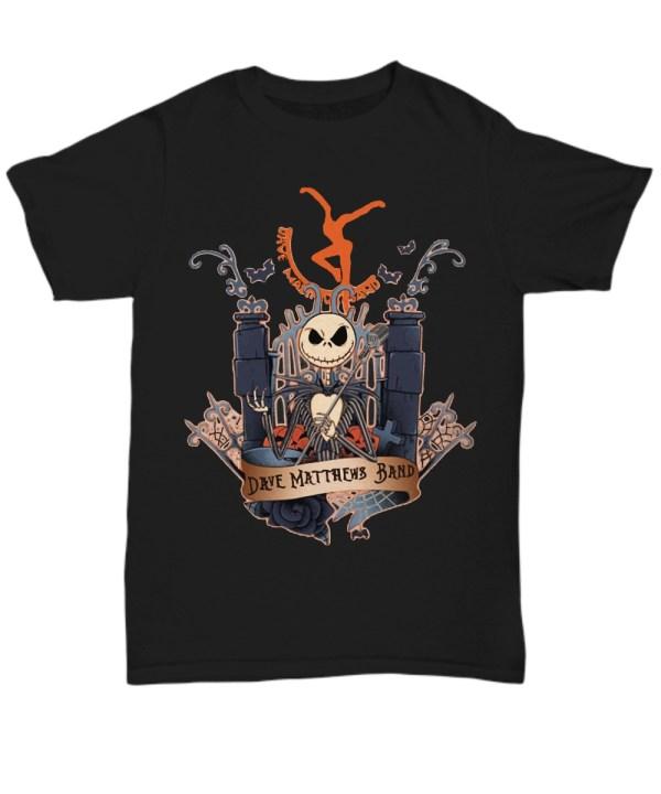 Halloween Dave Matthews Skeleton Band Shirt