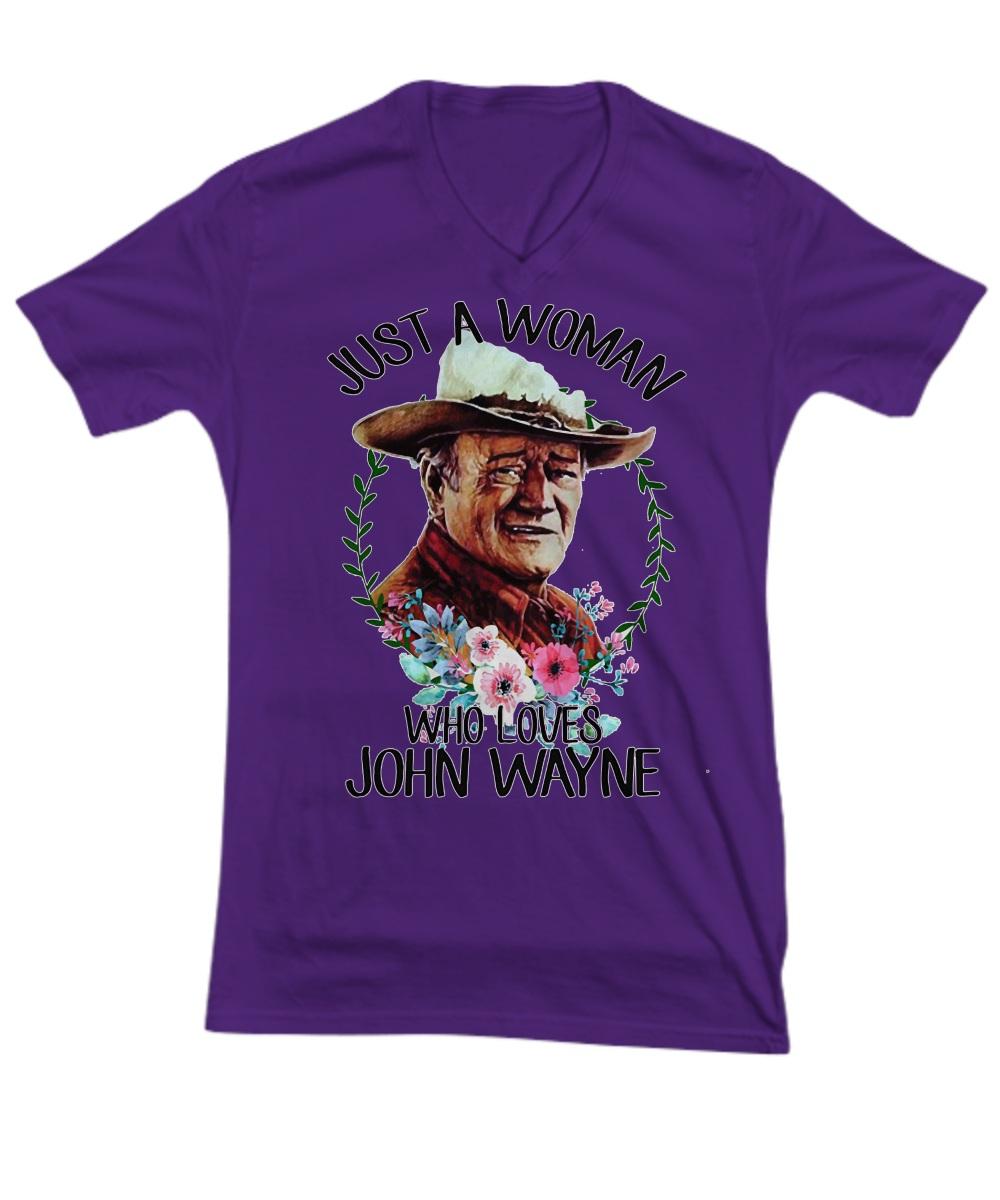 Just a woman who loves John Wayne V- Neck