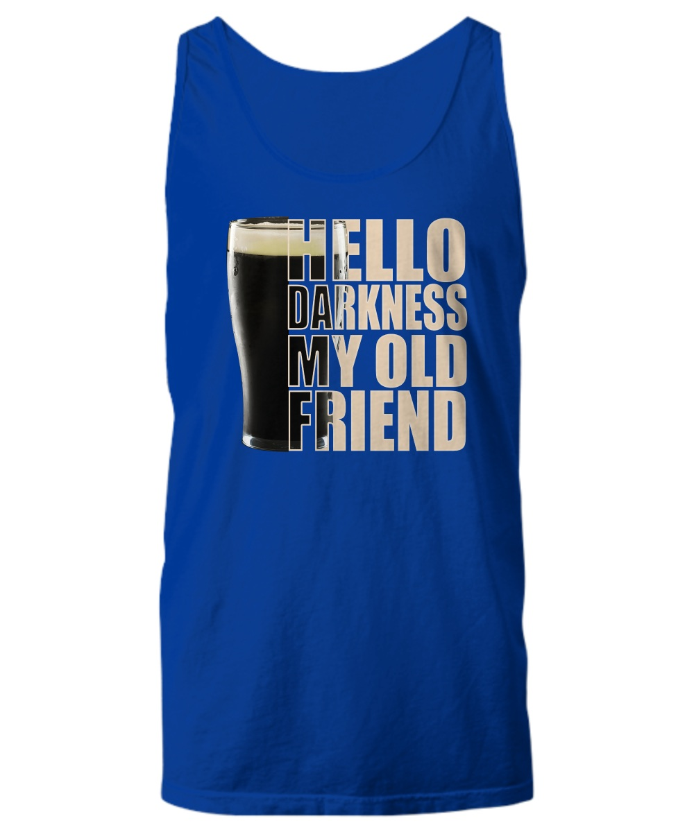 Beer Hello darkness my old friend Tank top