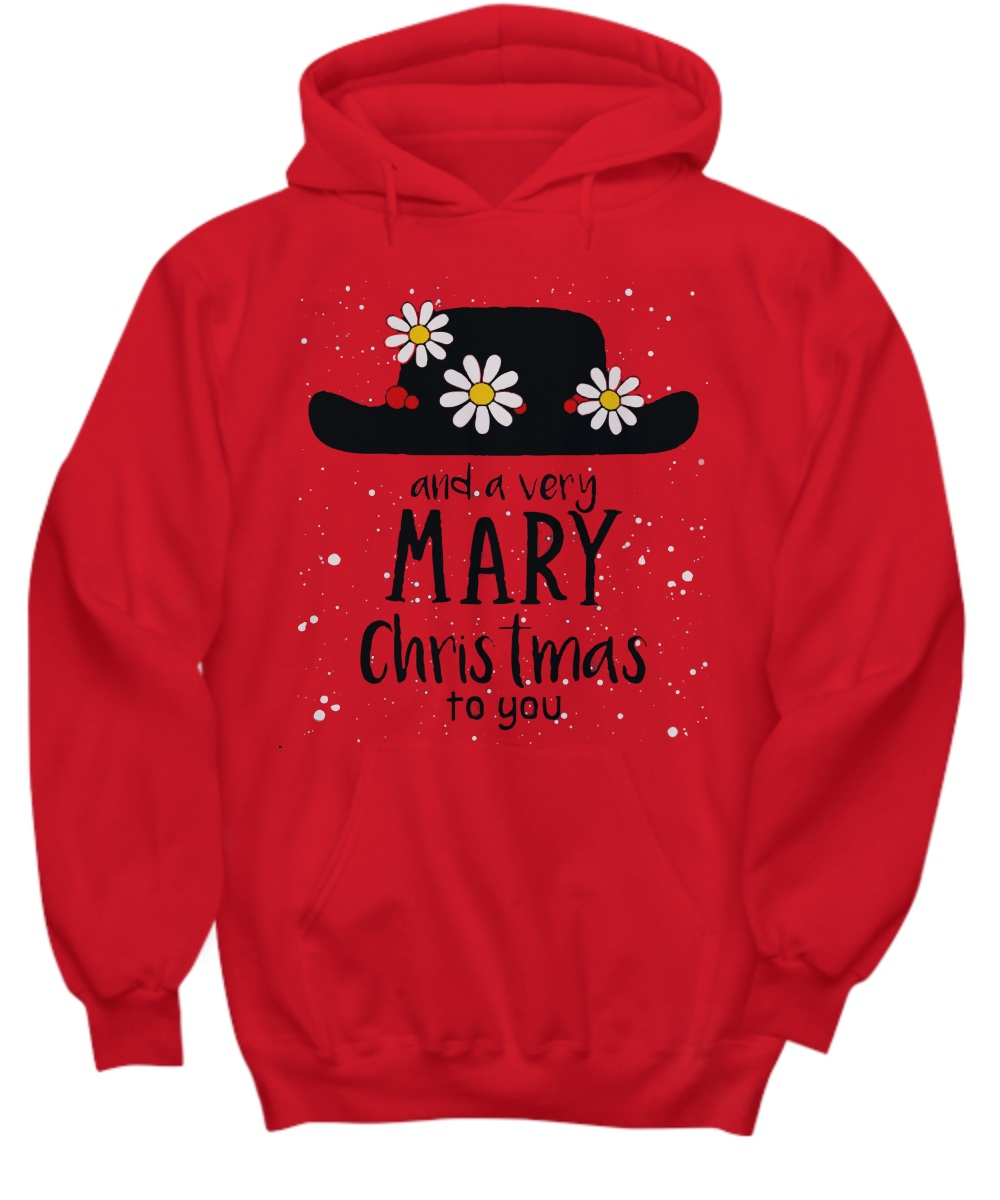 Flower hat and a very mary Christmas to you hoodie