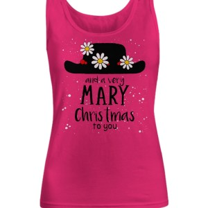 Flower hat and a very mary Christmas to you tank top