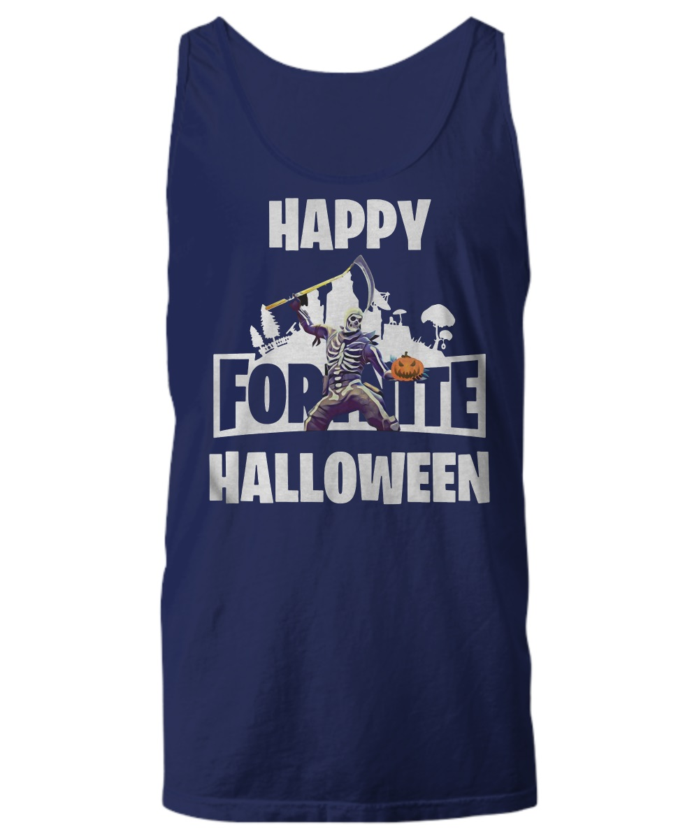Fortnite happy halloween skull trooper tank top