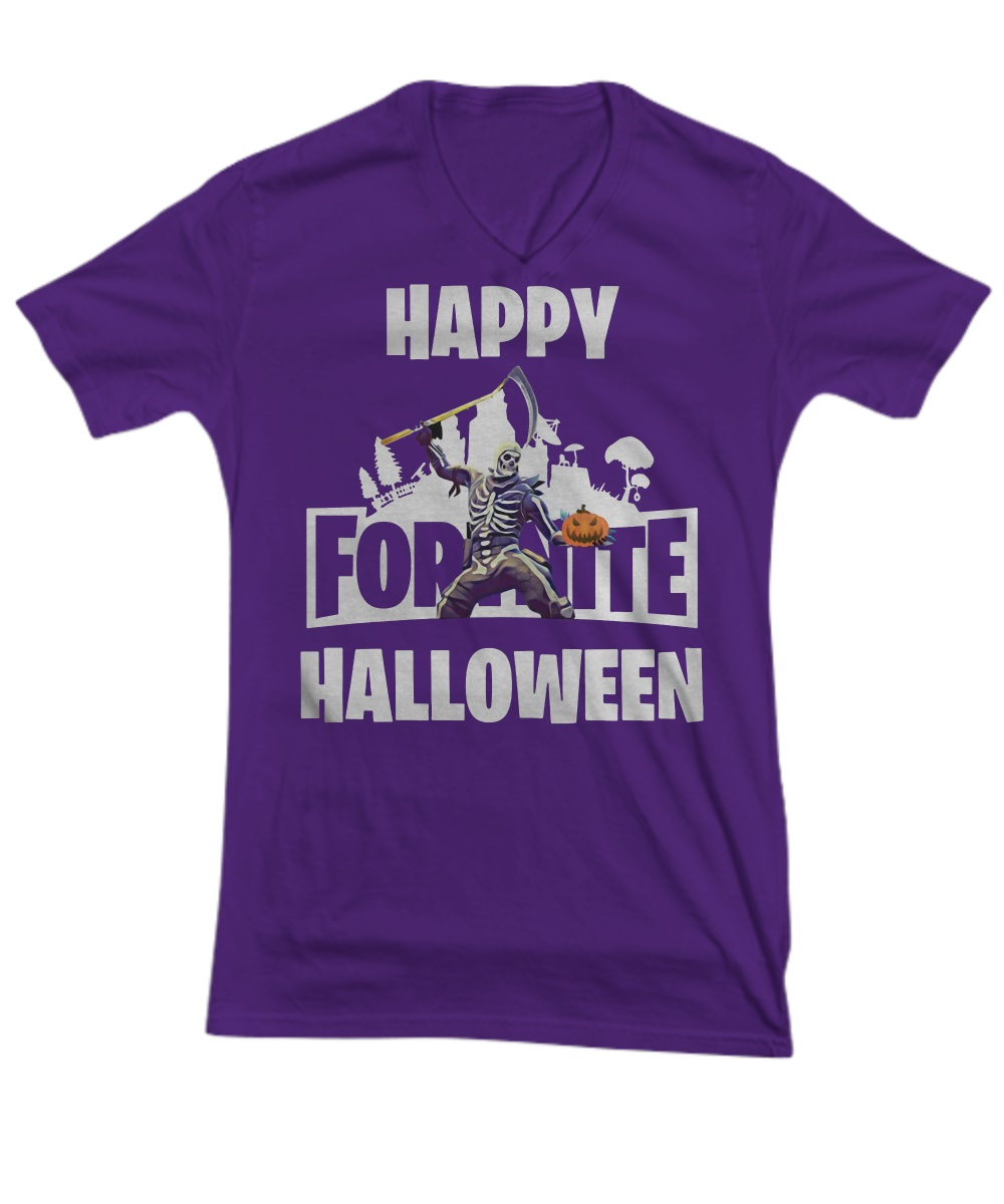 Fortnite happy halloween skull trooper v-neck