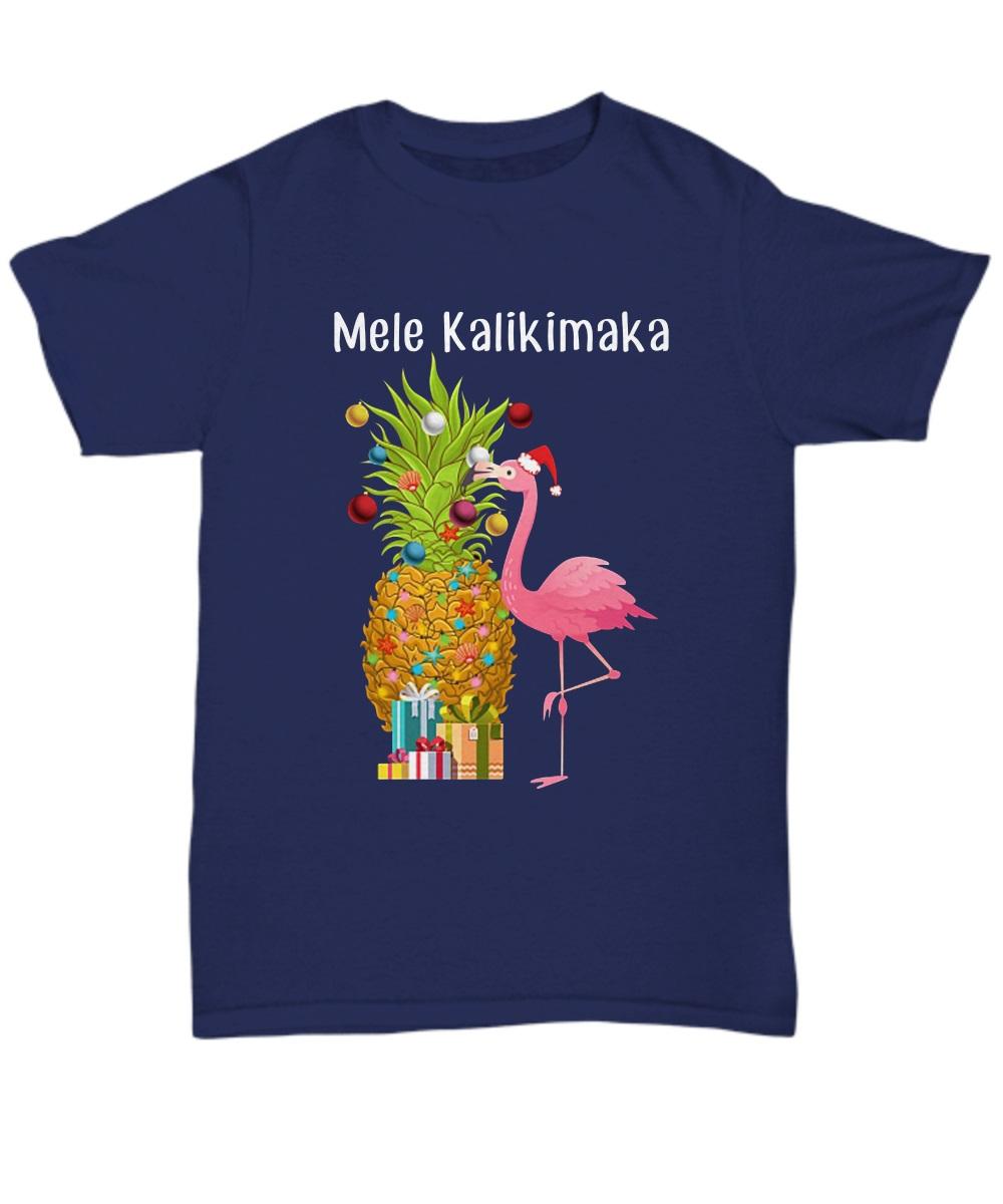 Mele Kalikimaka Flamingo Christmas classic shirt