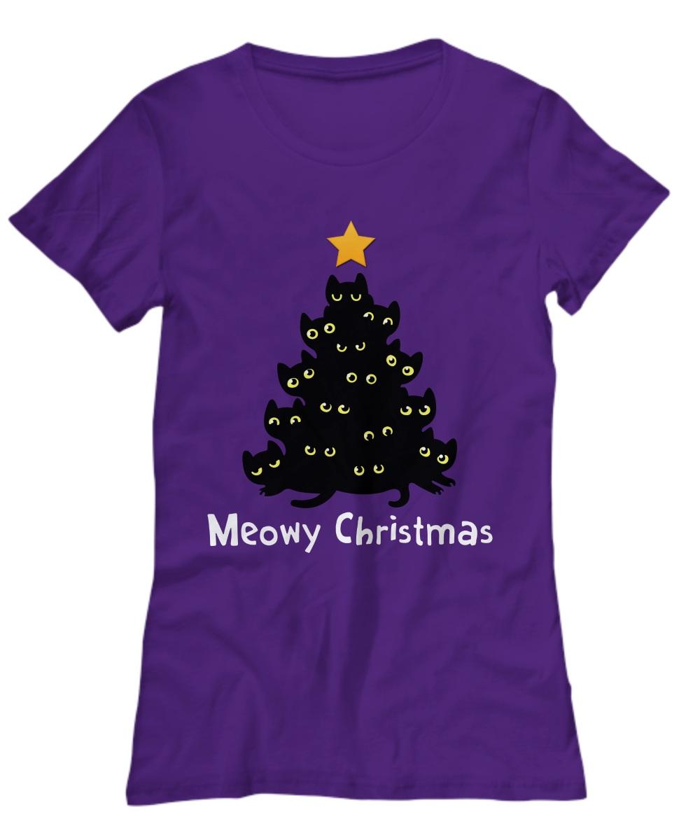 Meowy Christmas tree Shirt