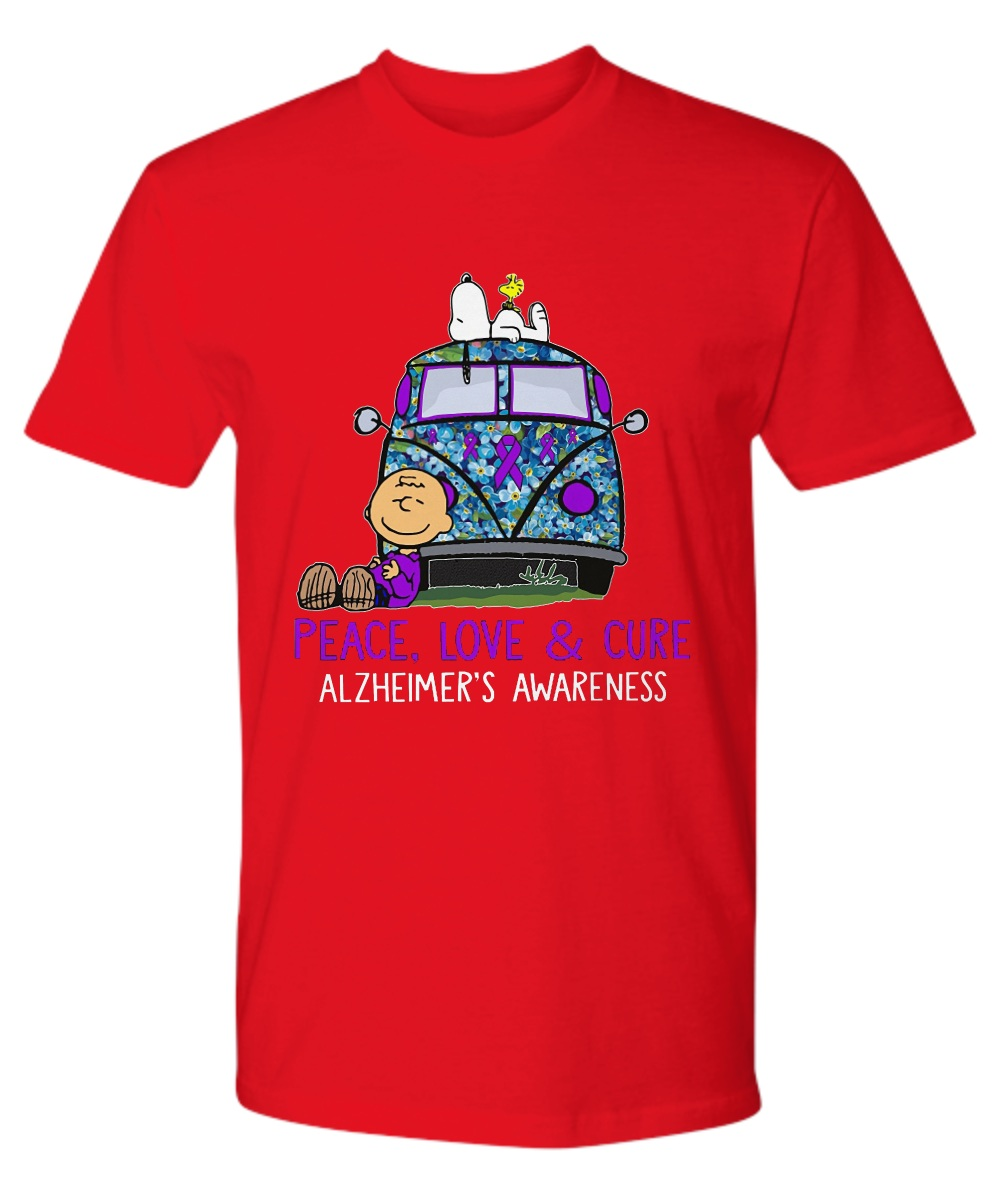 Snoopy charlie peace love & cure alzheimer's awareness Premium