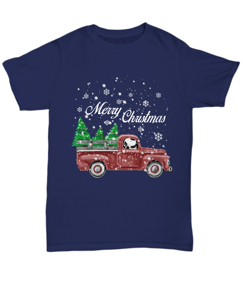 Snoopy drive red truck merry Christmas classic shirt