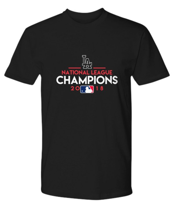 Team name of Los Angeles Dodgers baseball shirt
