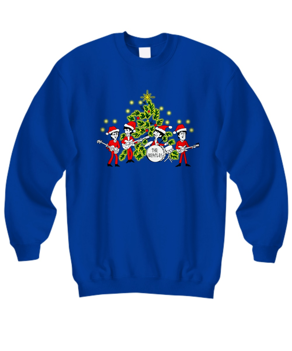 The beatles Singing Christmas Tree sweatshirt