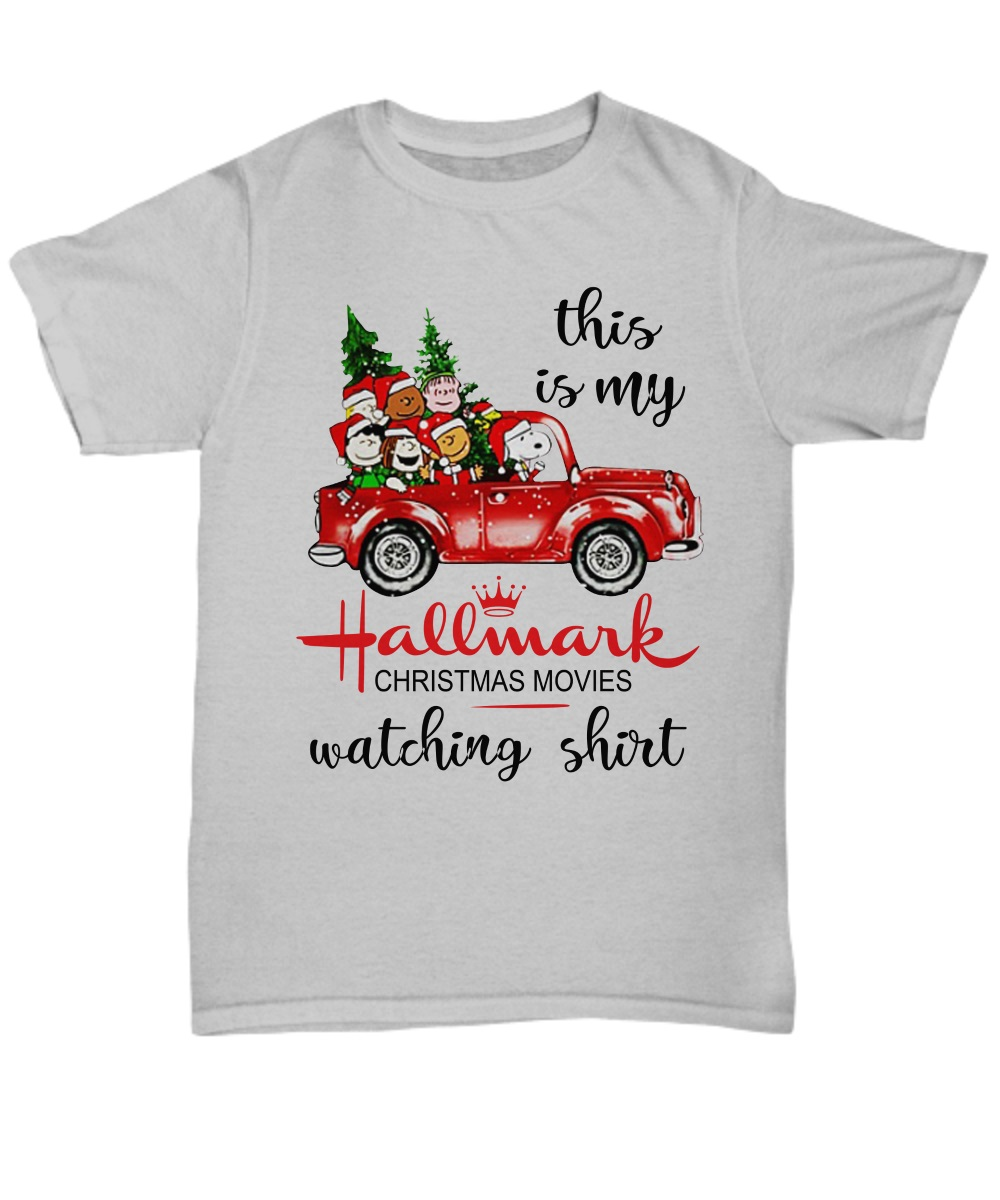 This is my Hallmark Christmas movie watching Snoopy and Peanut classic shirt