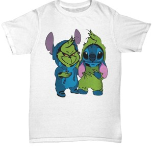 Baby Grinch and Stitch shirt