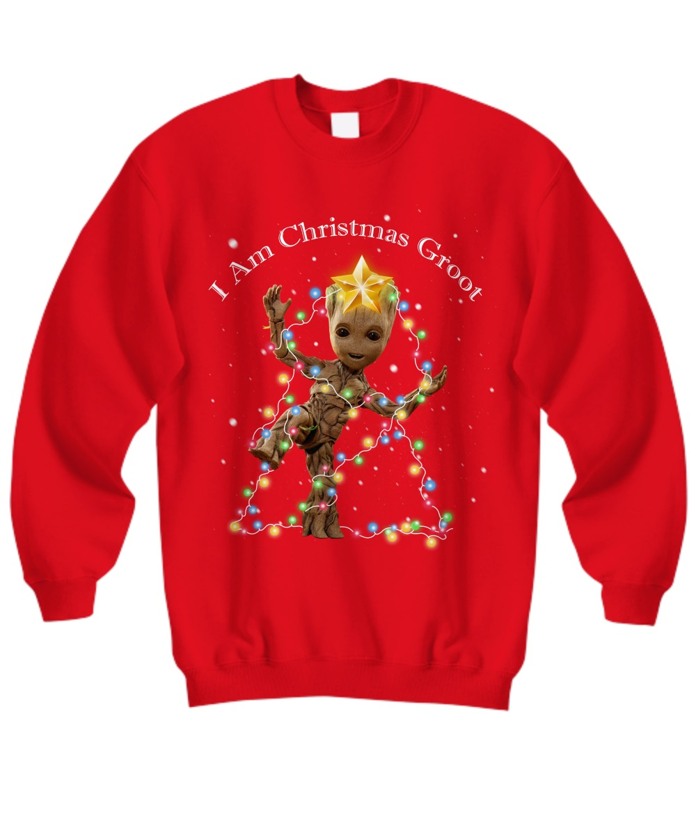 Baby Groot I Am Christmas Groot sweatshirt
