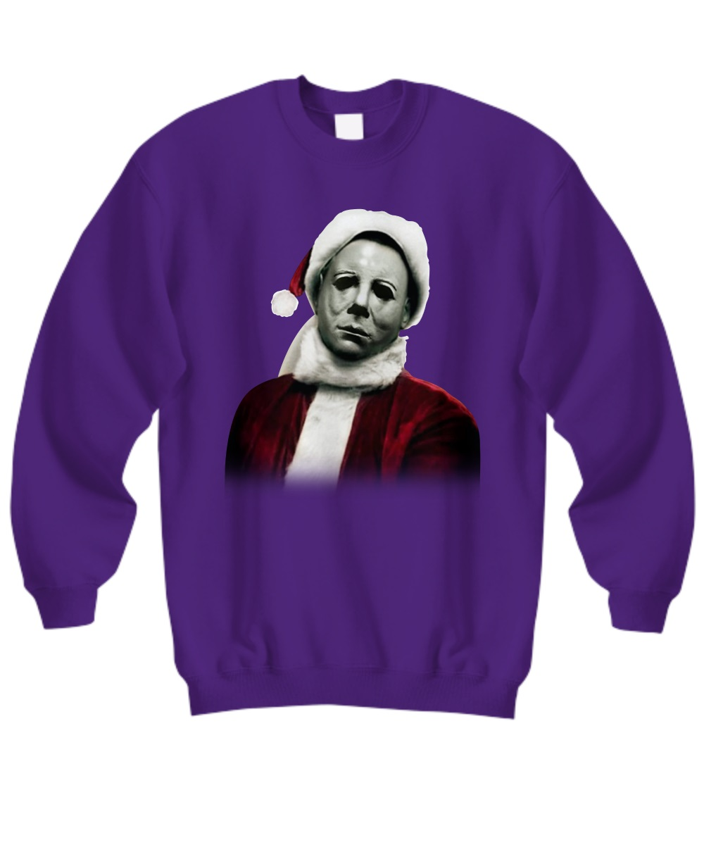 Christmas Michael Myers Santa Hat sweatshirt