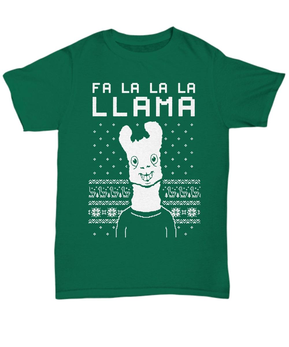 FA La La Llama Ugly Christmas Sweater Funny Xmas classic shirt