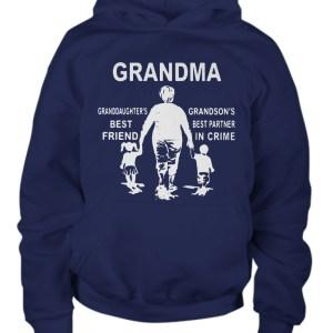 Grandma granddaughter's best friend grandson's best partner in crime hoodie