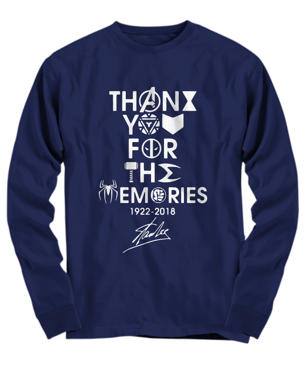 Stan Lee Marvel thank you for the memories long sleeve