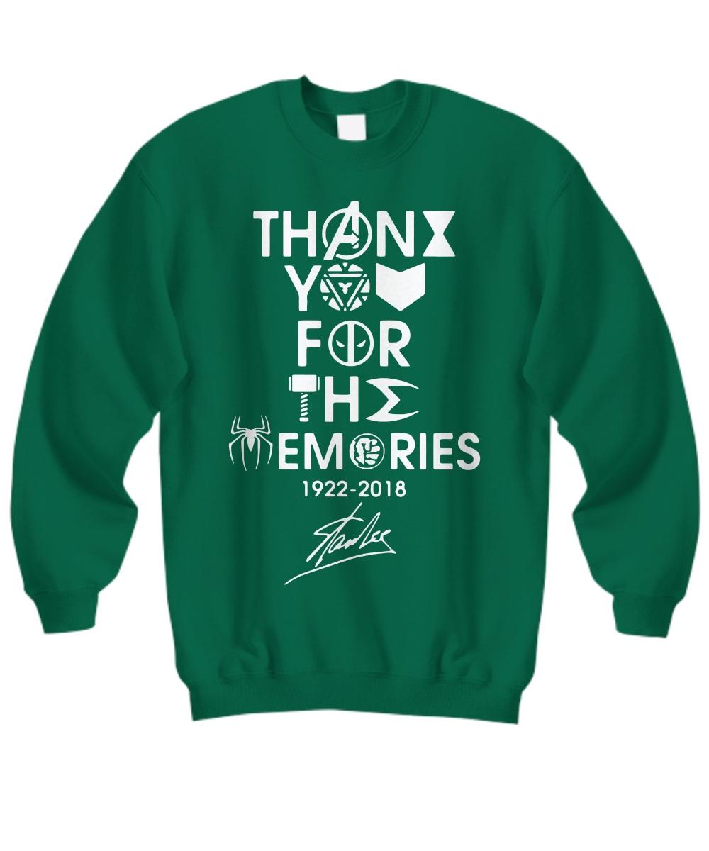 Stan Lee Marvel thank you for the memories sweatshirt