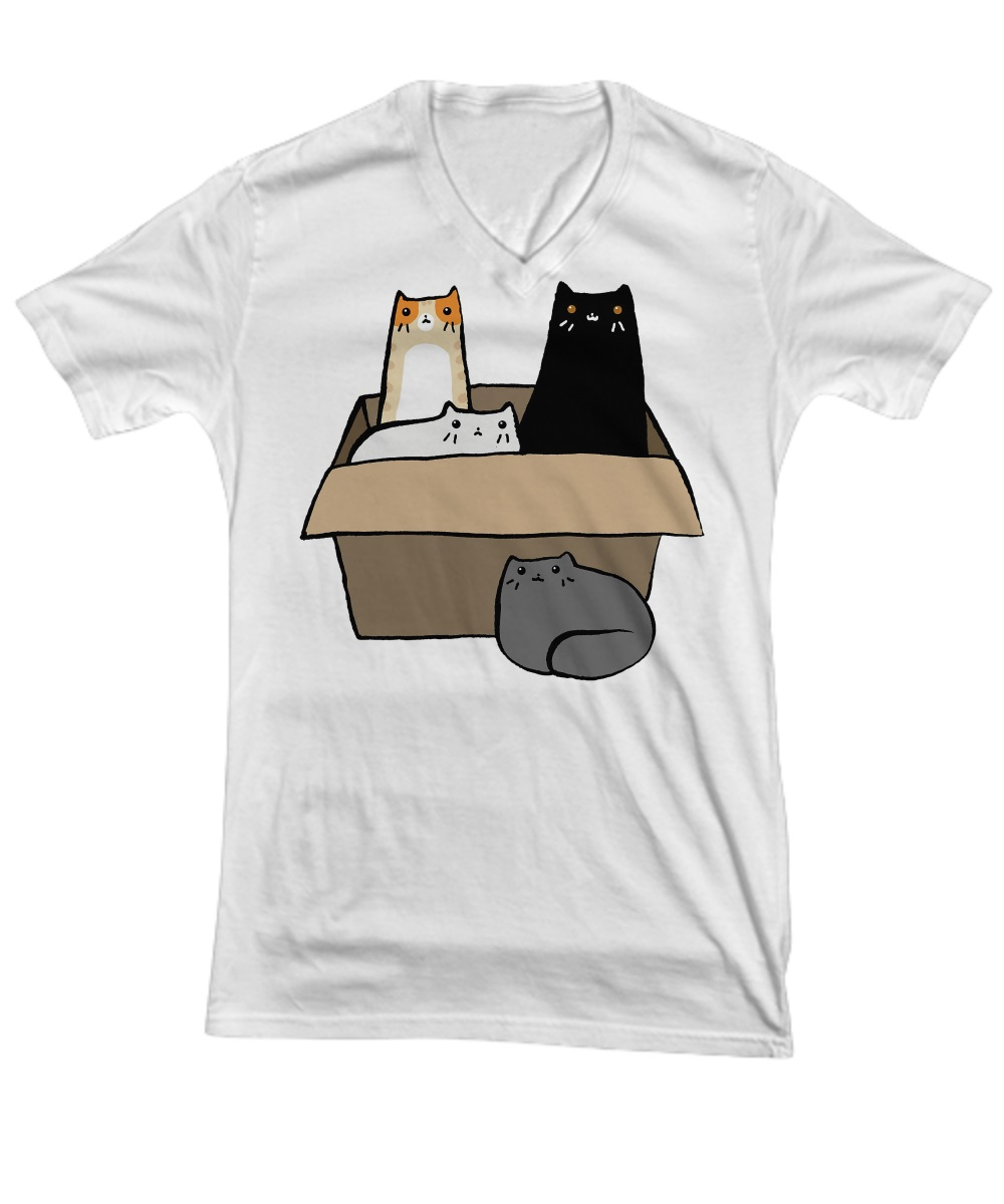 Cats in a Box v-neck