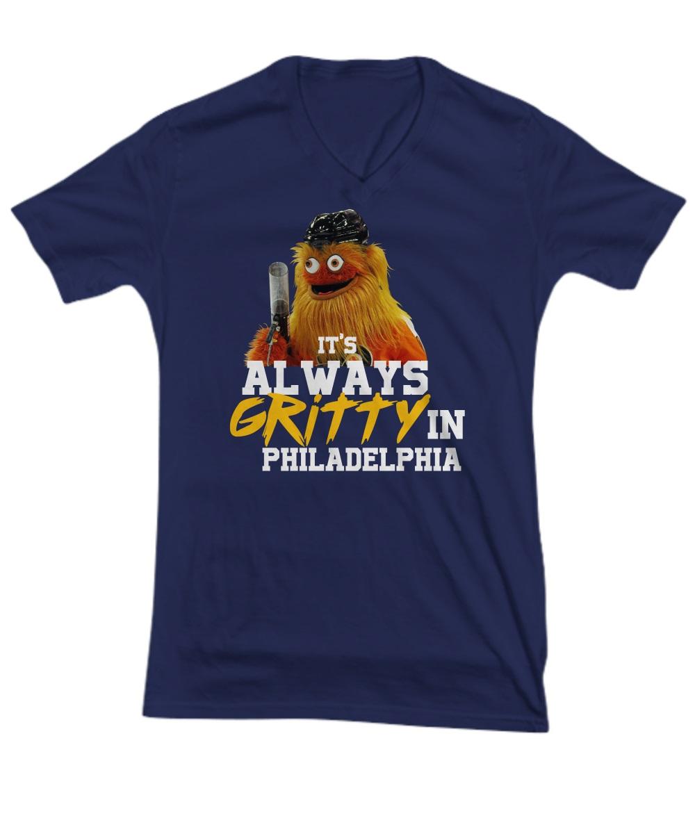 It's always gritty in Philadelphia hockey mascot v-neck