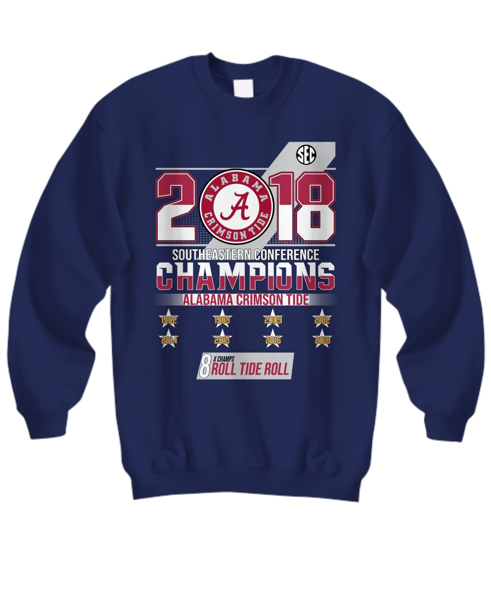 Southeastern conference alabama crimson tide roster 2018 sweatshirt