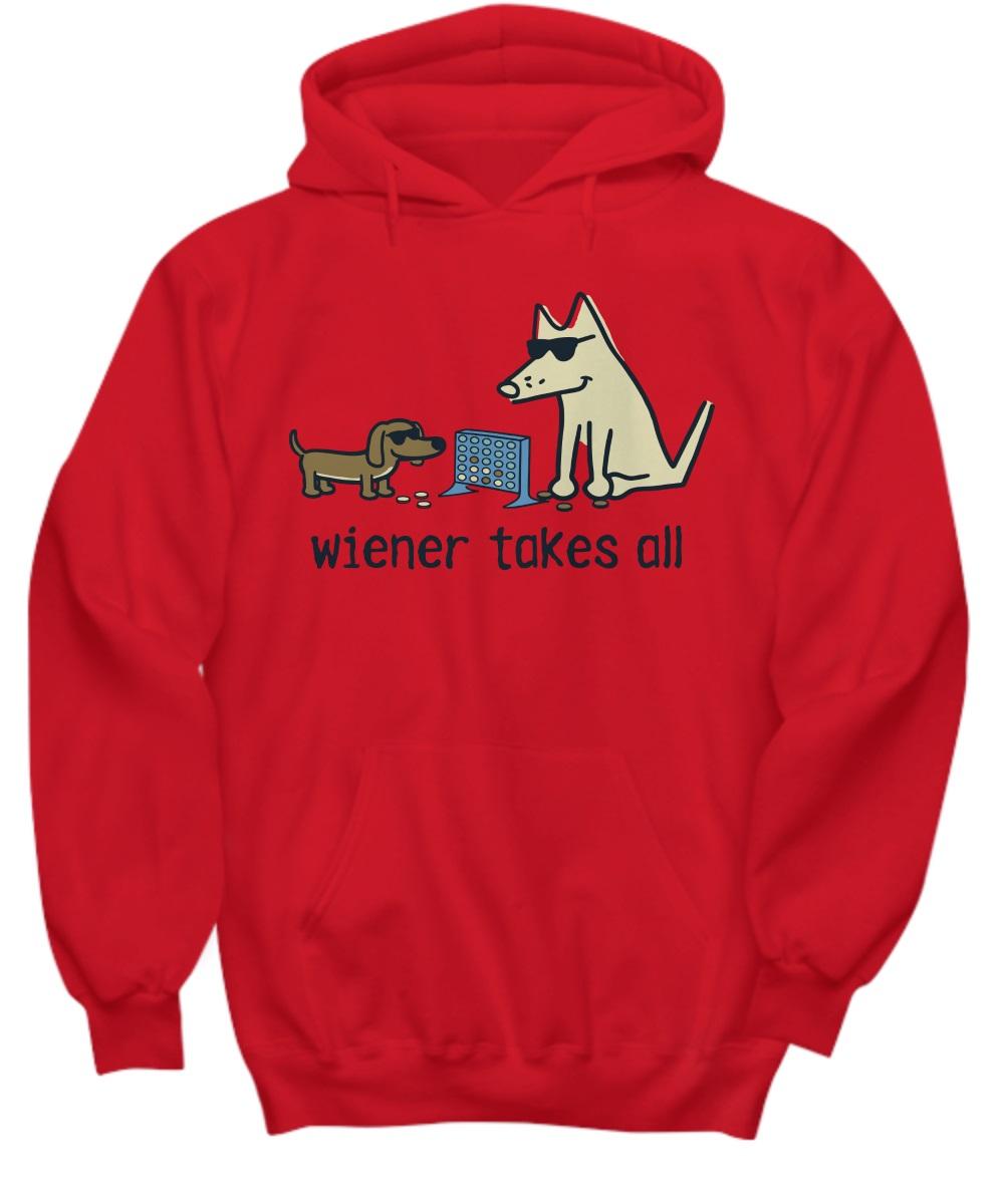 Teddy the dog wiener takes all hoodie