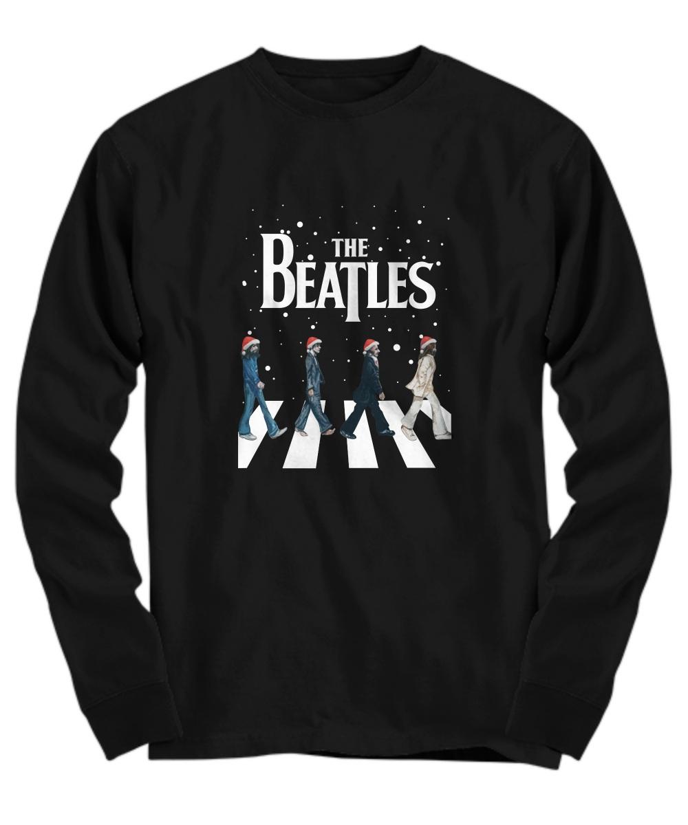 The Beatles Walking Across Abbey Road Christmas long sleeve