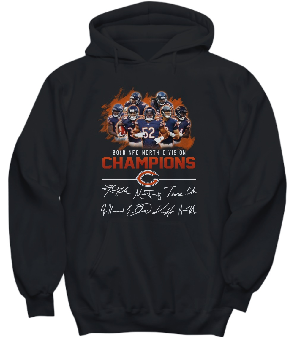 2018 NFC North division champions Chicago Bears signature hoodie