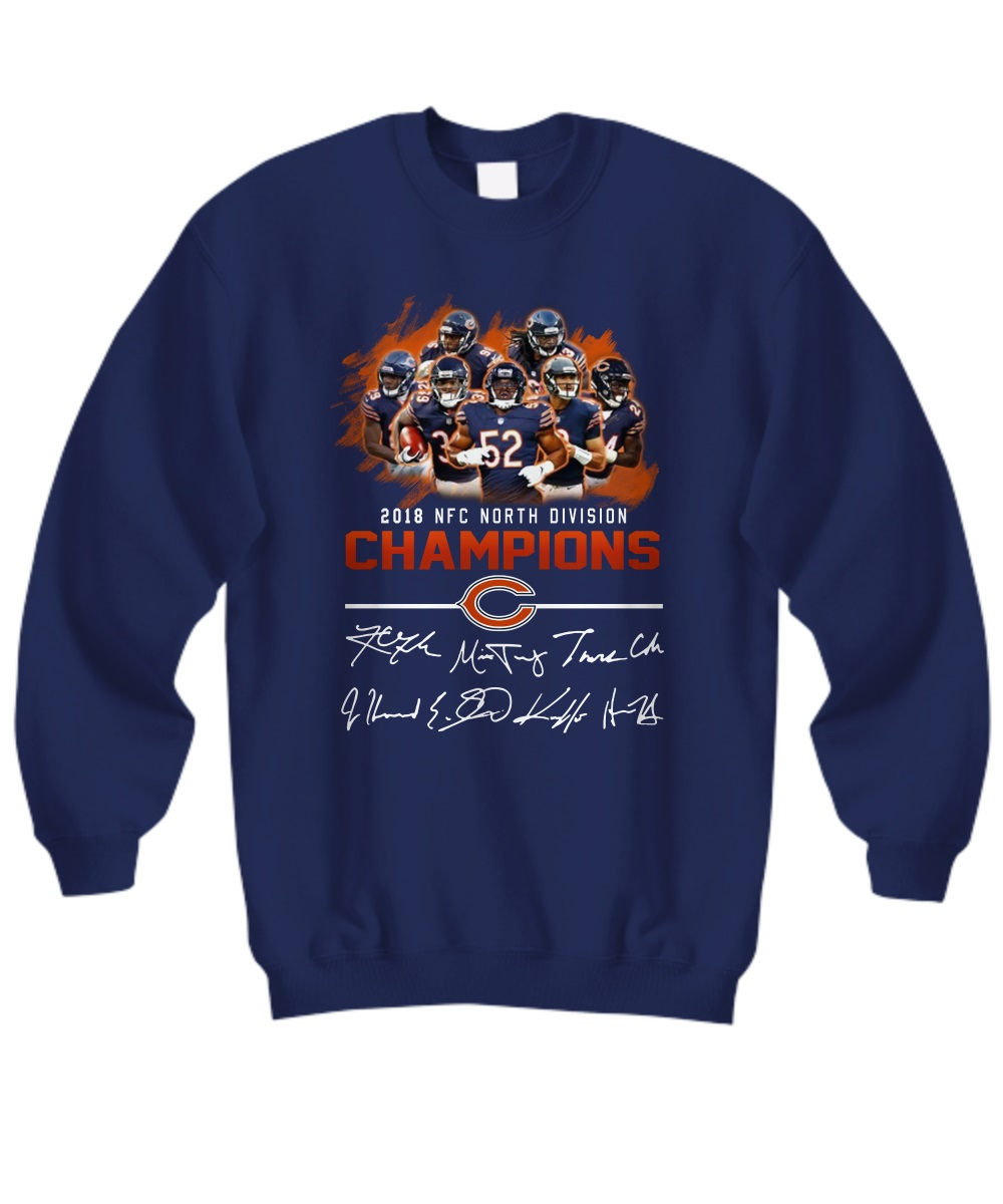 2018 NFC North division champions Chicago Bears signature sweatshirt