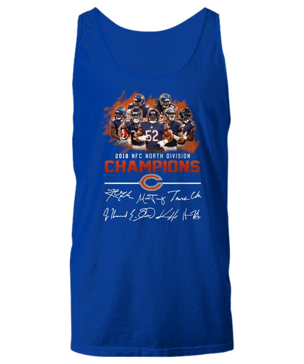 2018 NFC North division champions Chicago Bears signature tank top