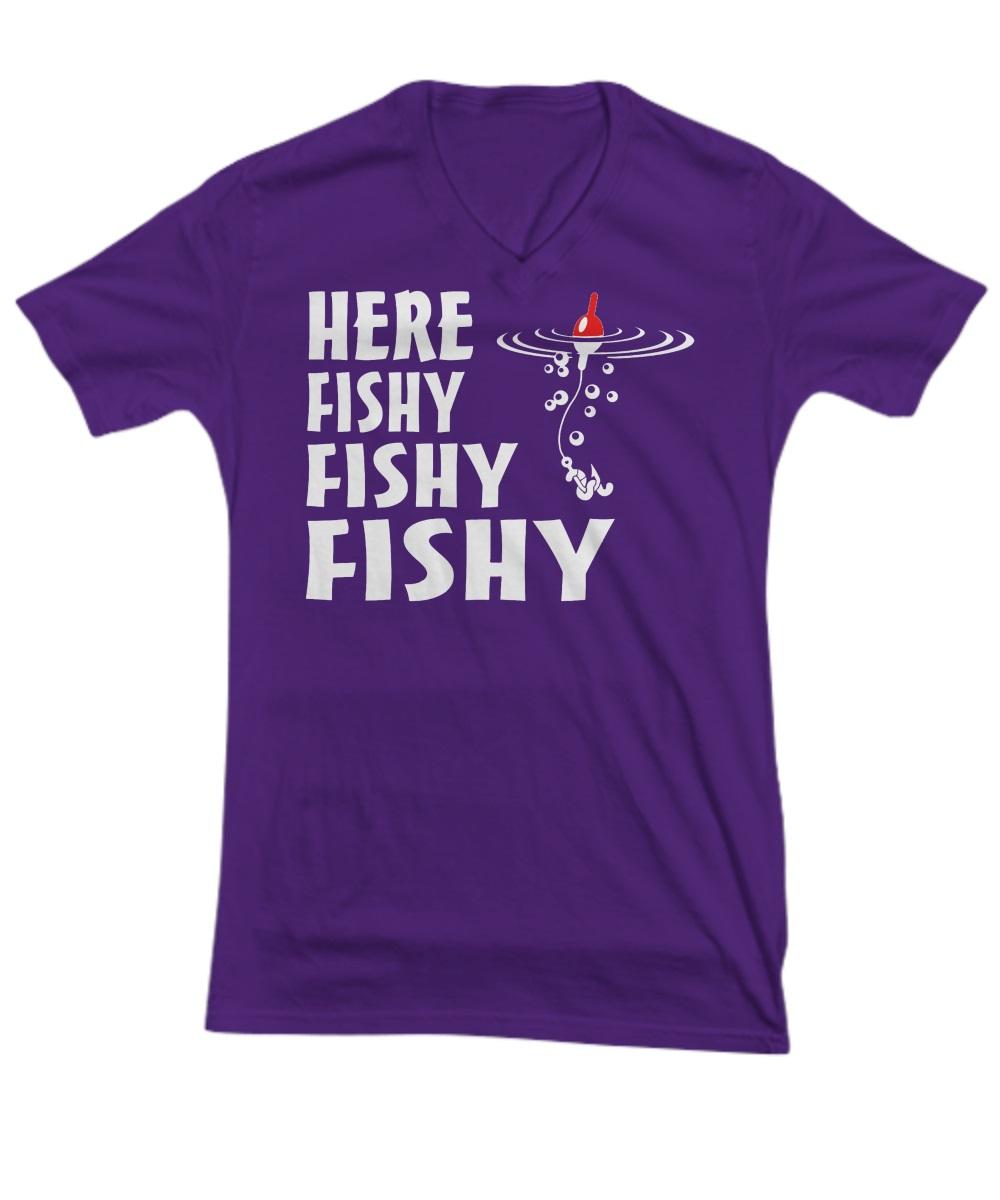 Here fishy fishy fishy v-neck