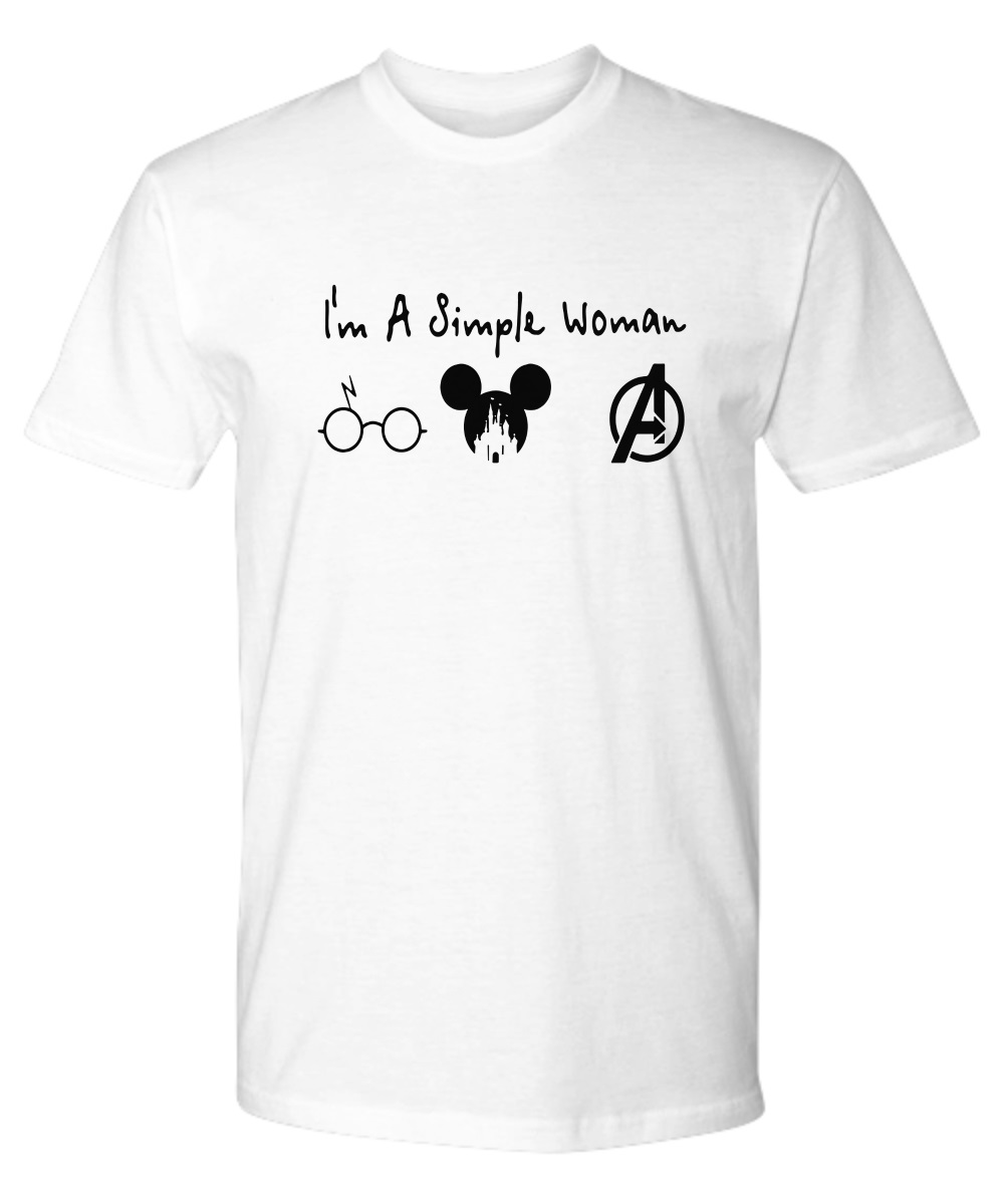 I'm a simple woman who love Harry Potter Disney Avenger classic shirt