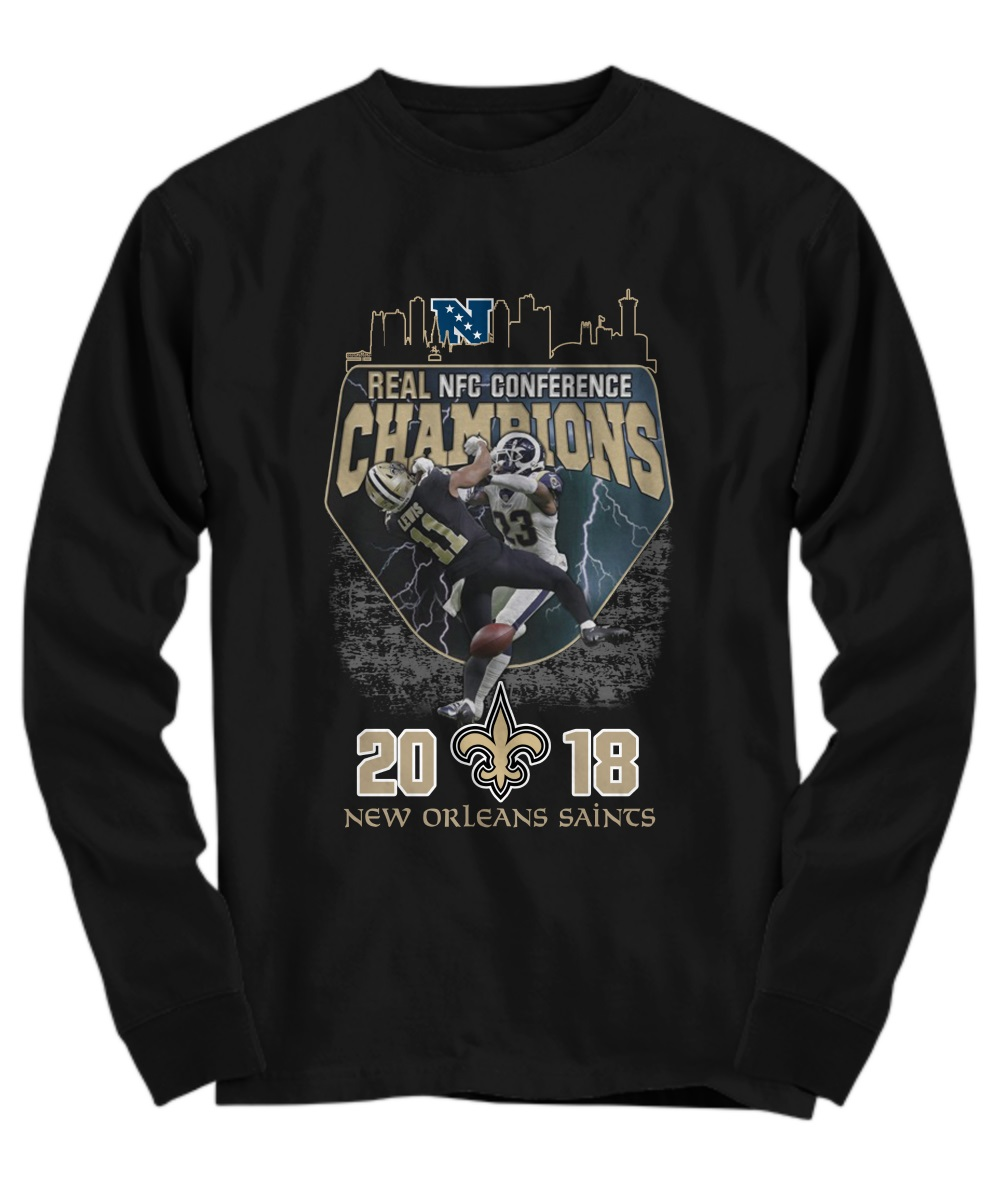 Real nfc conference champions 2018 new orleans saints long sleeve