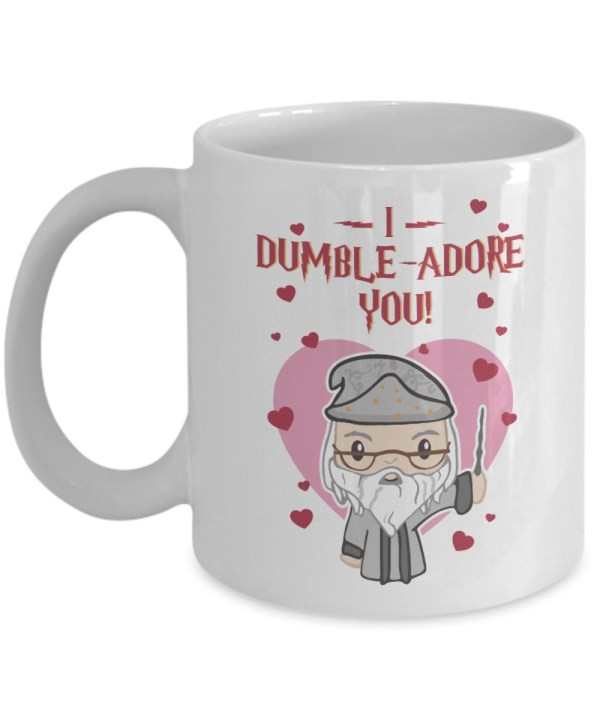 I dumble adore you valentine white mug