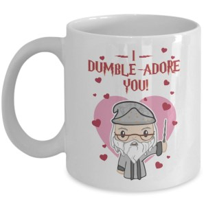 I dumble adore you valentine white mug