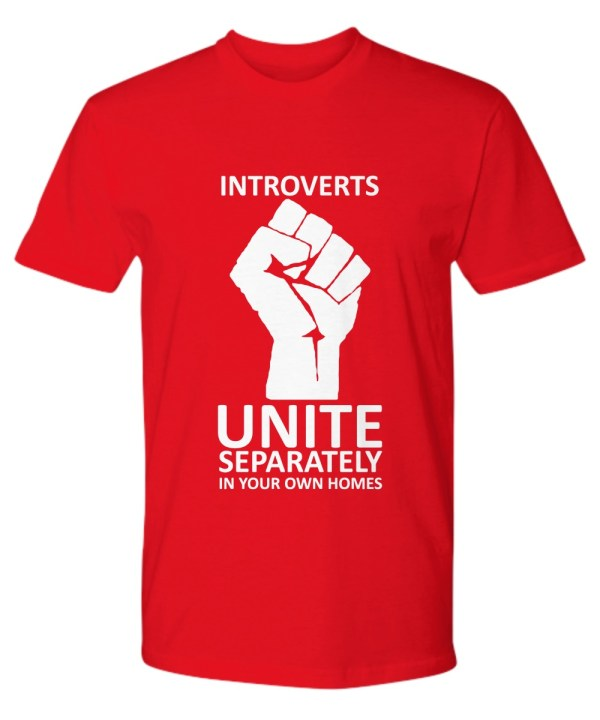 Introverts unite separately in your own homes premium tee