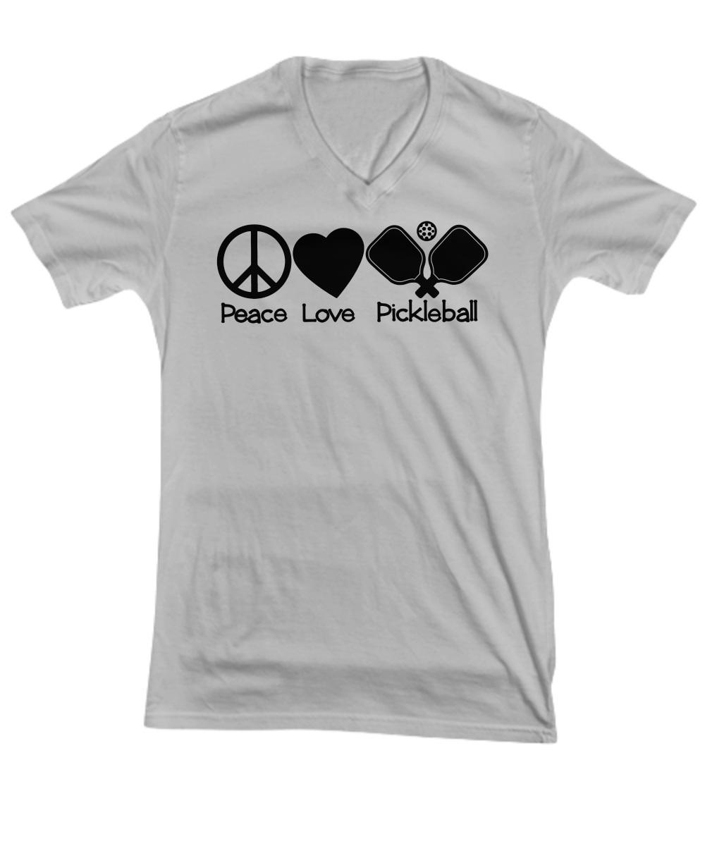 Peace love pickleball v-ncek