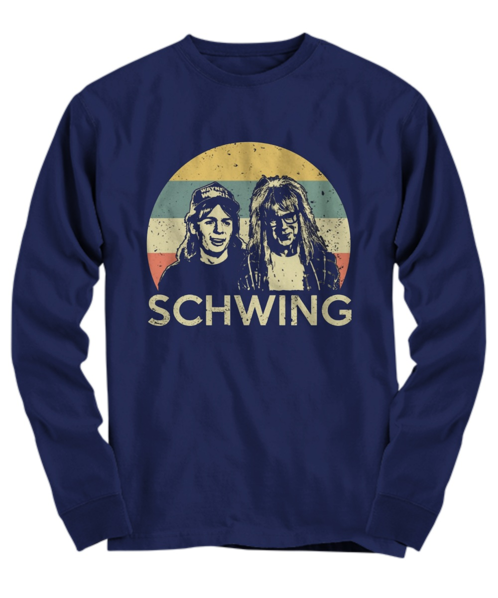 Wayne campbell and Garth algar Schwing long sleeve