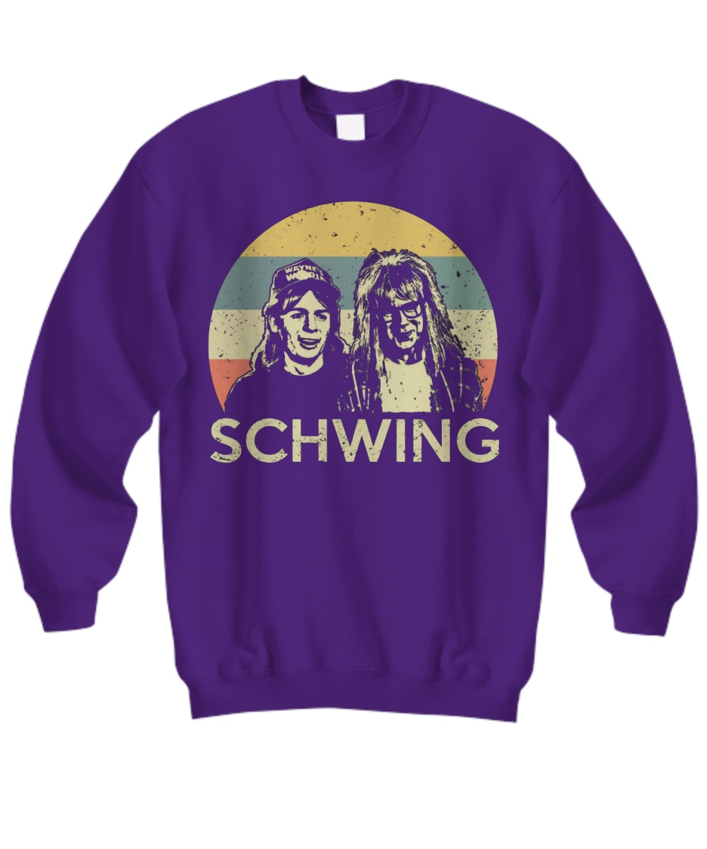 Wayne campbell and Garth algar Schwing sweatshirt